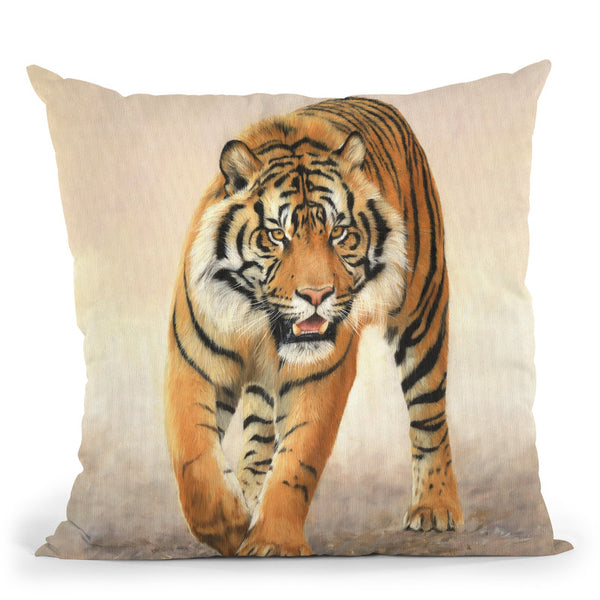 Tiger Viii Throw Pillow By David Stribbling