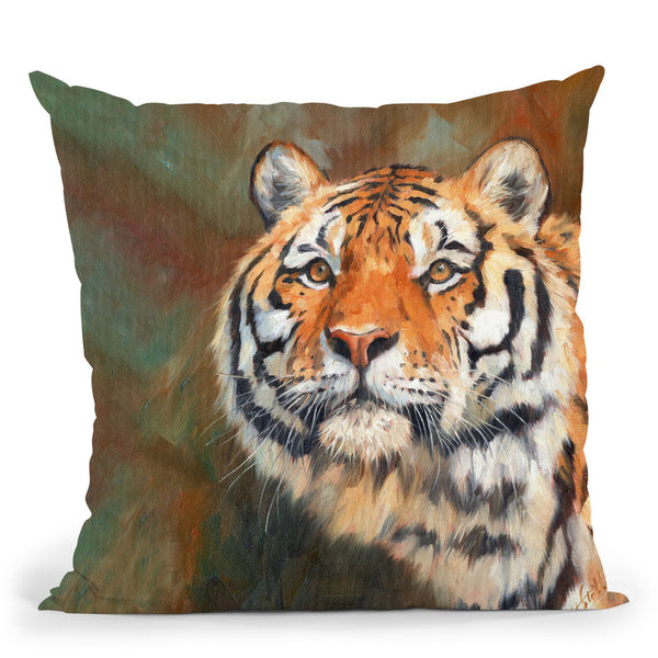 Tiger Vi Throw Pillow By David Stribbling