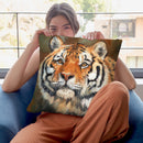 Tiger April Throw Pillow By David Stribbling