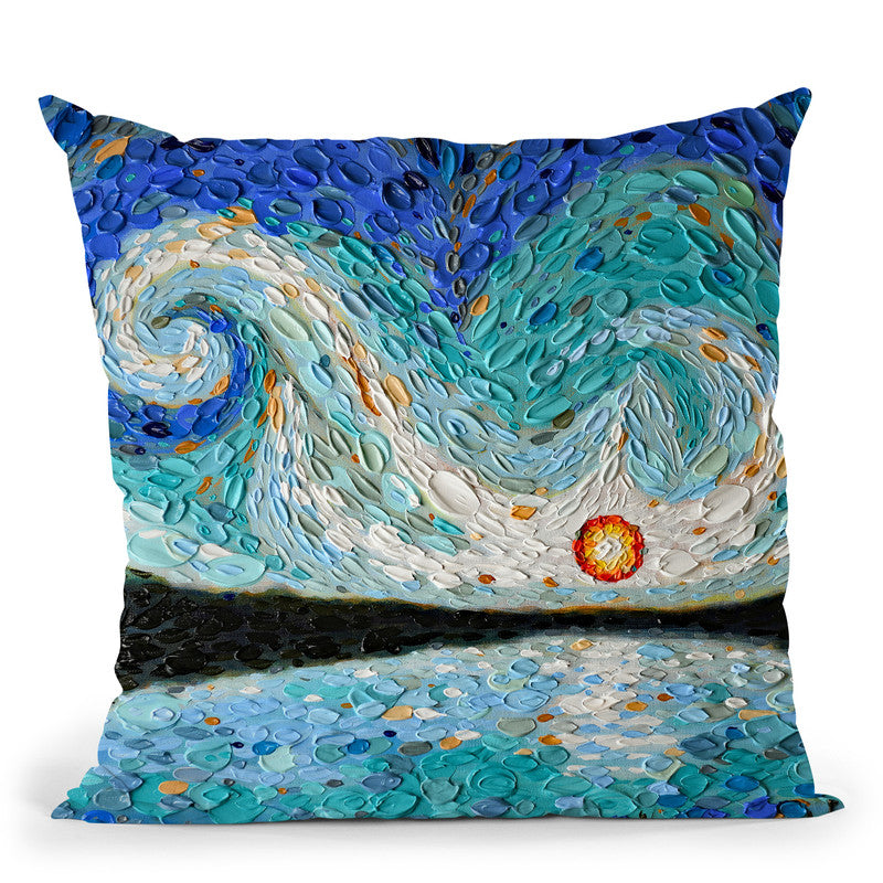 Evenings Light Pond Throw Pillow By Dena Tollefson