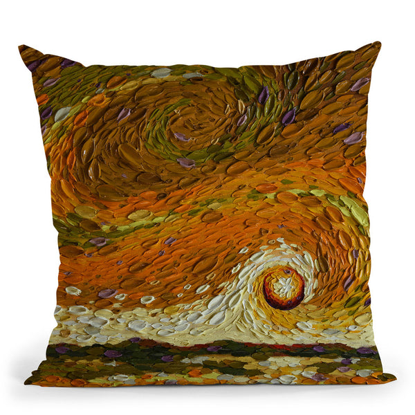 Rebekah'S Sky Throw Pillow By Dena Tollefson