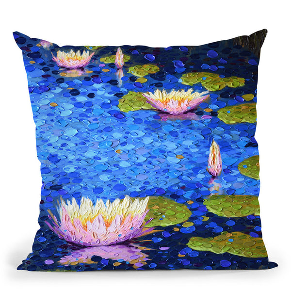 Serenity In Pink Throw Pillow By Dena Tollefson