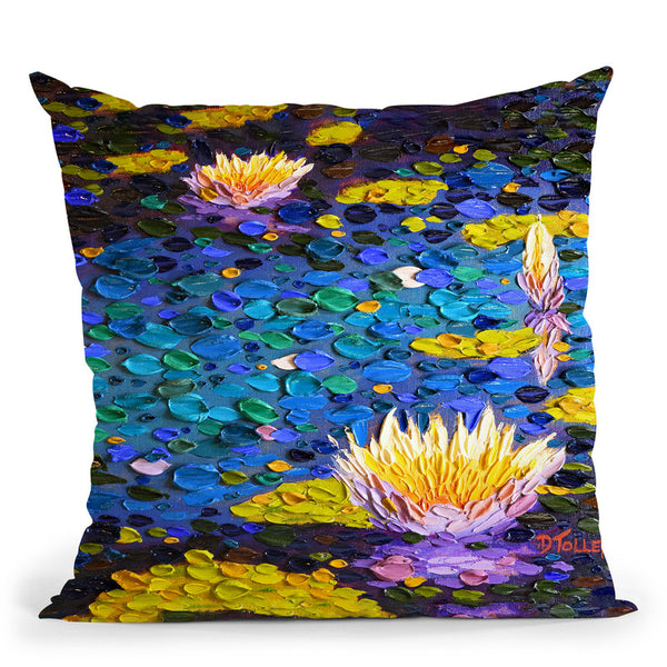 Symphony In Blue Throw Pillow By Dena Tollefson