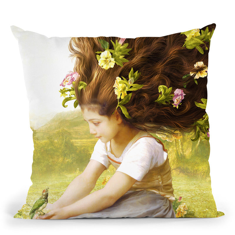 Bird Of Hope Throw Pillow By Diogo Verissimo