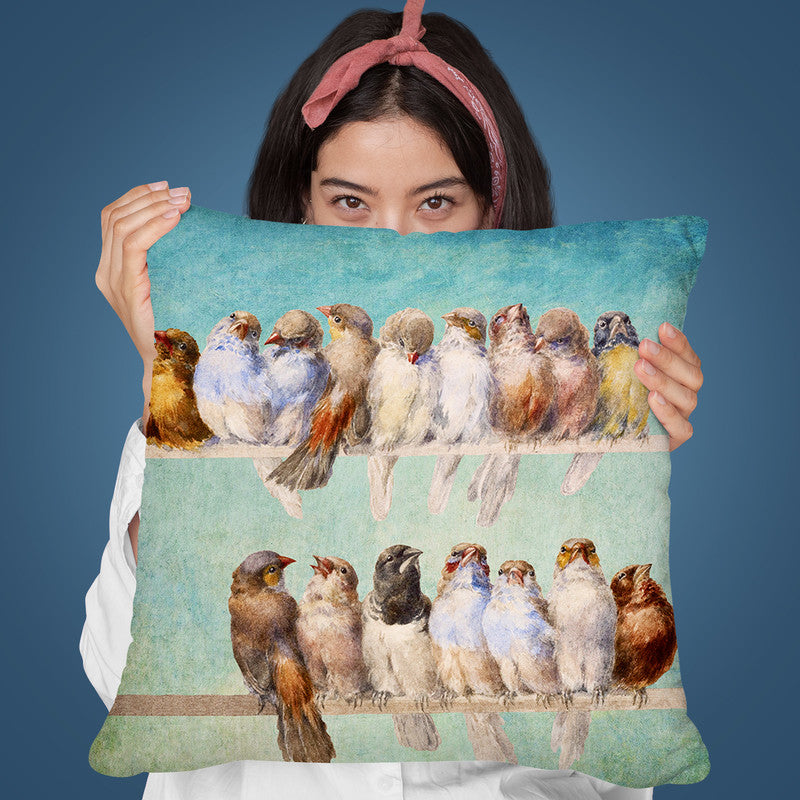 Birds Birds Birds Throw Pillow By Diogo Verissimo