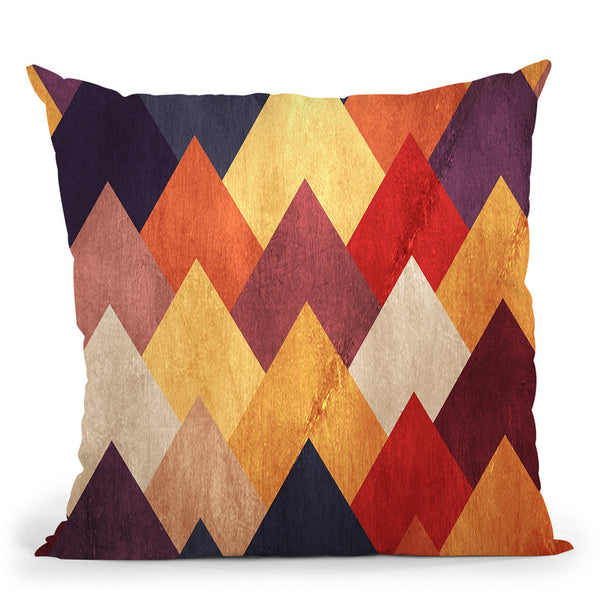 Eccentric Montains Throw Pillow By Diogo Verissimo