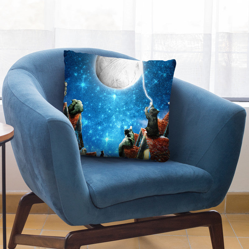 Feline Dreams Throw Pillow By Diogo Verissimo