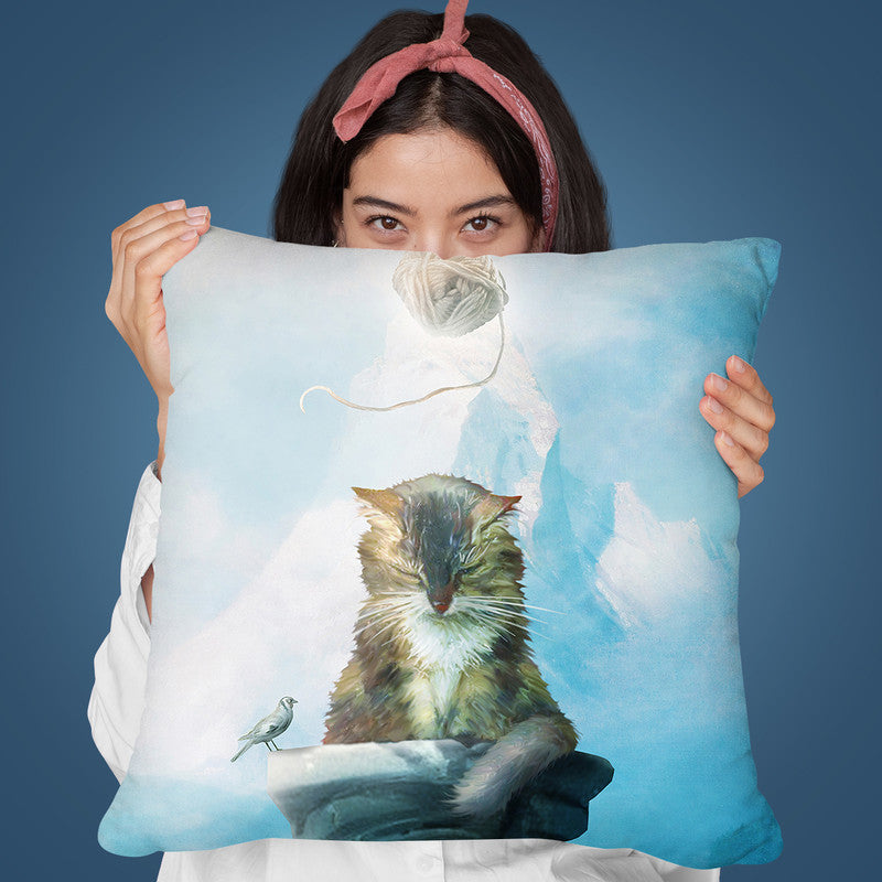 Nirvana Cat Throw Pillow By Diogo Verissimo
