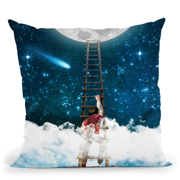 Reach For The Moon I Throw Pillow By Diogo Verissimo
