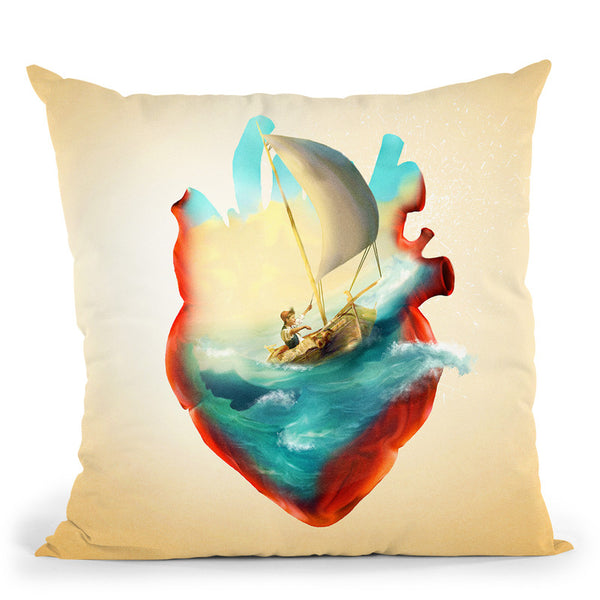 Sailing Heart Throw Pillow By Diogo Verissimo