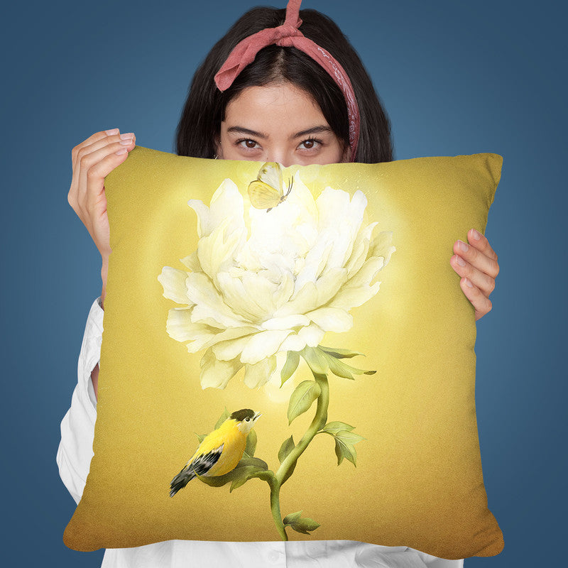Summer Flower Throw Pillow By Diogo Verissimo