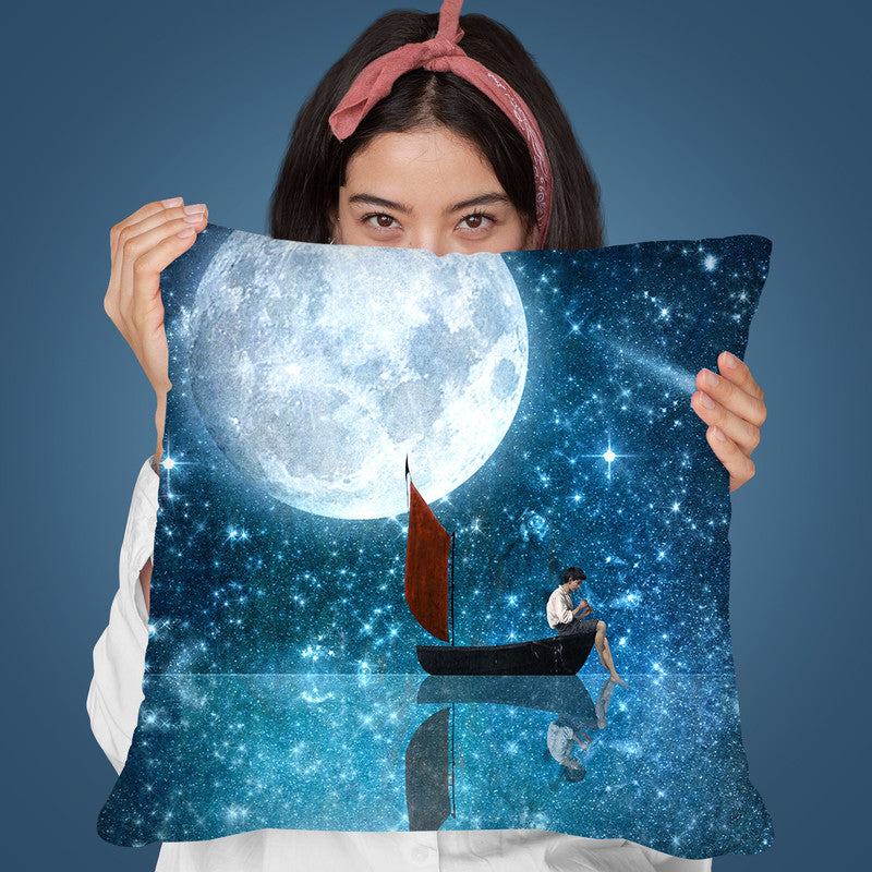 The Moon And Me I Throw Pillow By Diogo Verissimo