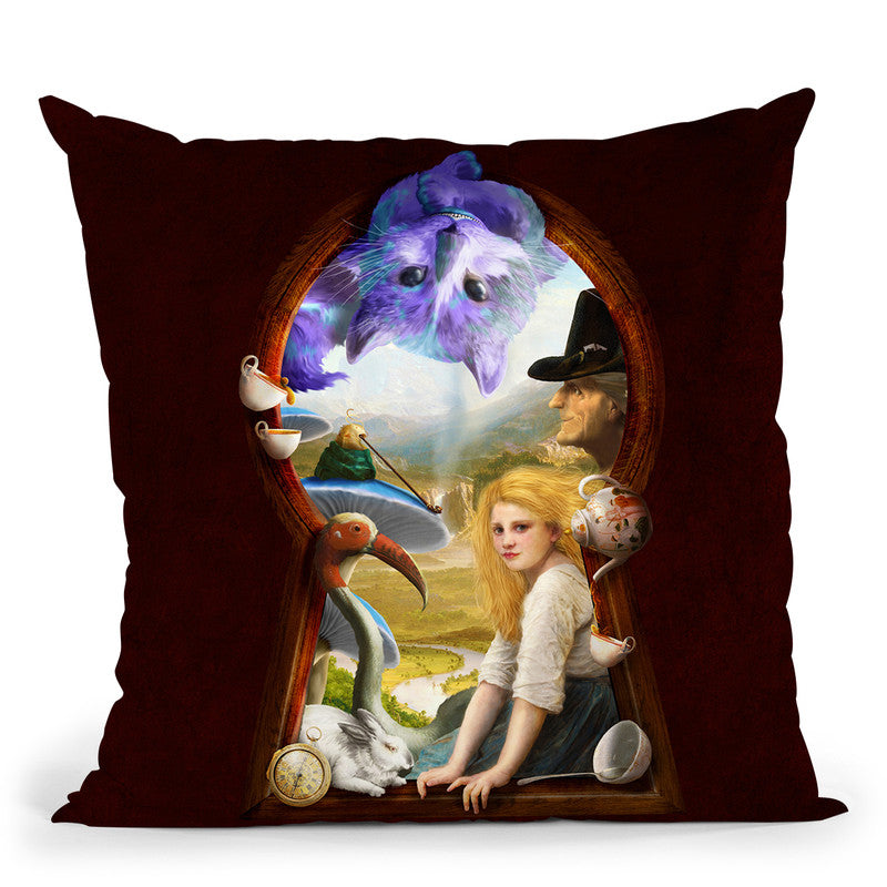 Through The Keyhole Throw Pillow By Diogo Verissimo