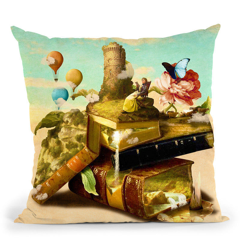 To Lands Away Throw Pillow By Diogo Verissimo