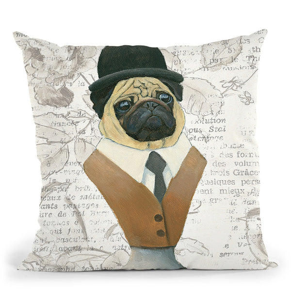 Canine Couture Newsprint Iii Throw Pillow By Emily Adams