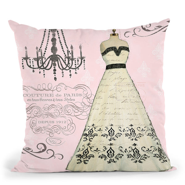 French Couture Ii Throw Pillow By Emily Adams