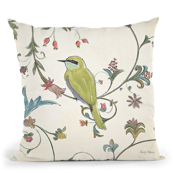 Birds Gem Iv Throw Pillow By Emily Adams