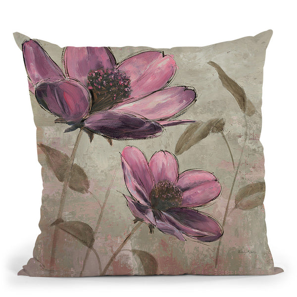 Plum Floral Ii Throw Pillow By Emily Adams