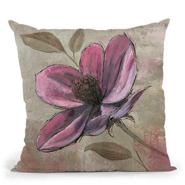 Plum Floral Iii Throw Pillow By Emily Adams