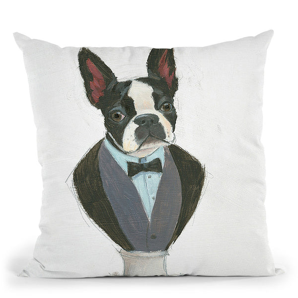 Canine Couture I Throw Pillow By Emily Adams