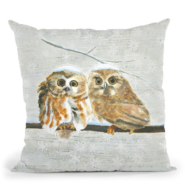 Christmas Critters I Throw Pillow By Emily Adams