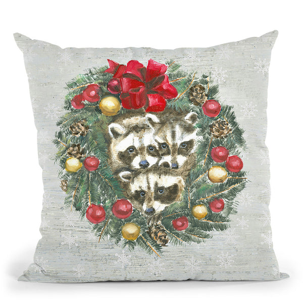 Christmas Critters Ii Throw Pillow By Emily Adams