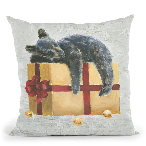 Christmas Critters Iii Throw Pillow By Emily Adams