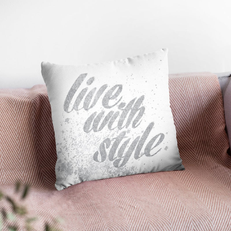 Show Fetish Quotes Iii Light Silver Throw Pillow By Emily Adams