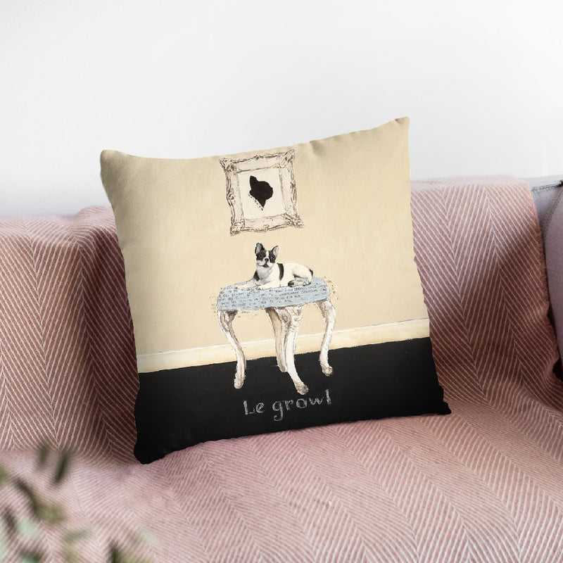 Le Growl Square 12X12 Throw Pillow By Emily Adams