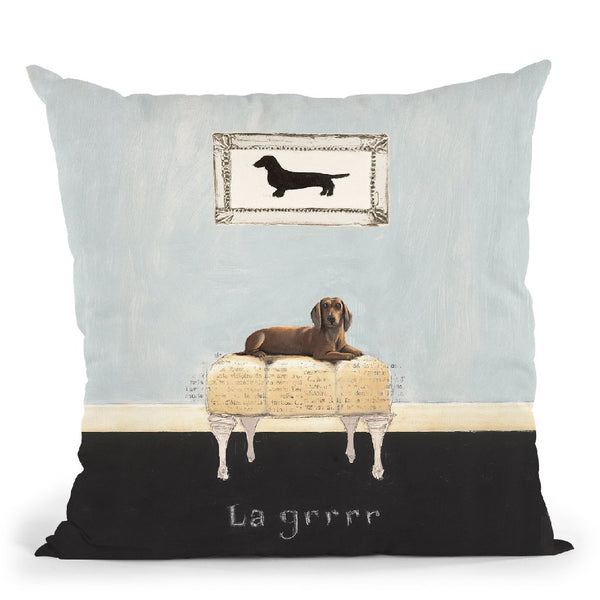 La Grrr Throw Pillow By Emily Adams