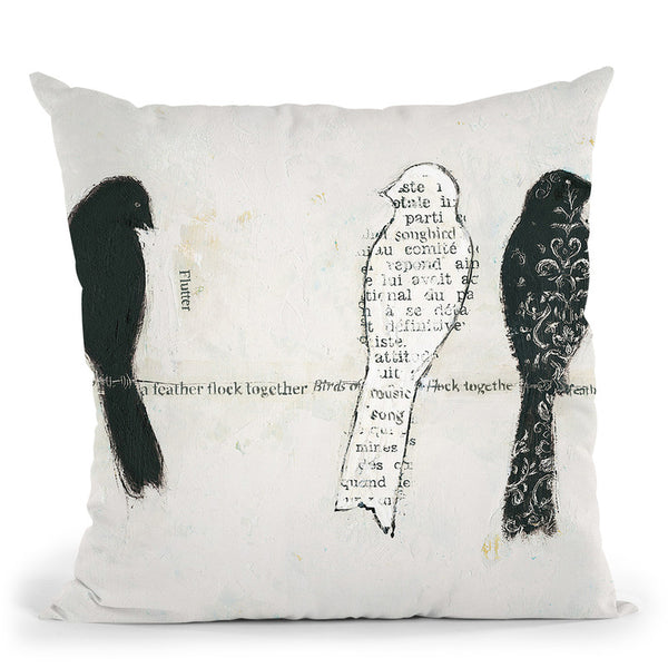 Catching Up Ii Throw Pillow By Emily Adams