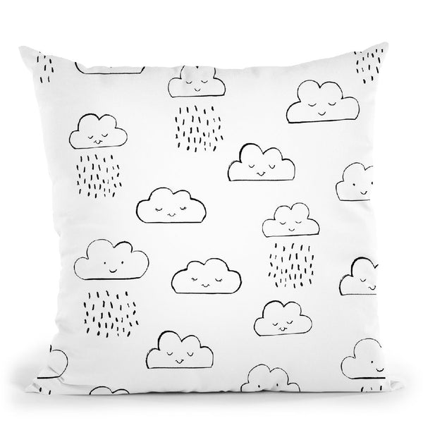 Neighborhood Pals Pattern Ia Throw Pillow By Farida Zaman