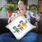 Neighborhood Pals X Throw Pillow By Farida Zaman