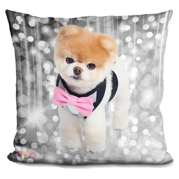 Boo Bowtie Throw Pillow