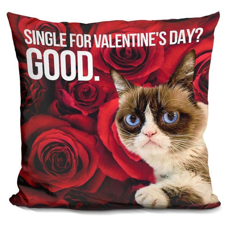 Single for Valentine's Day Pillow