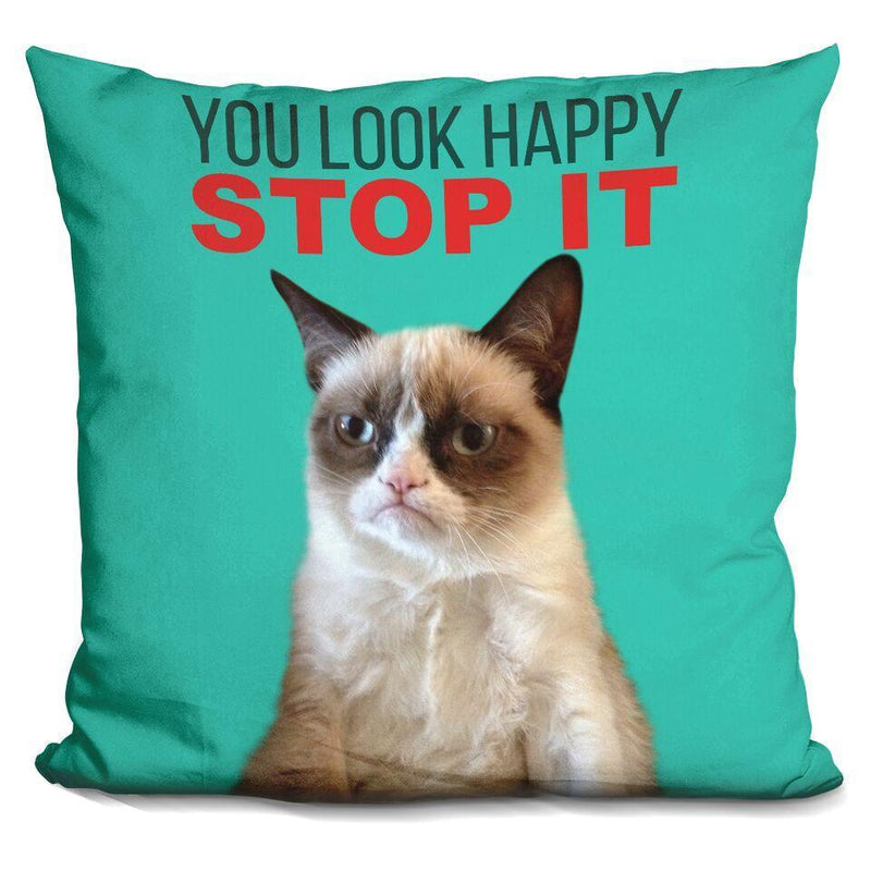 You Look Happy. Stop it Pillow