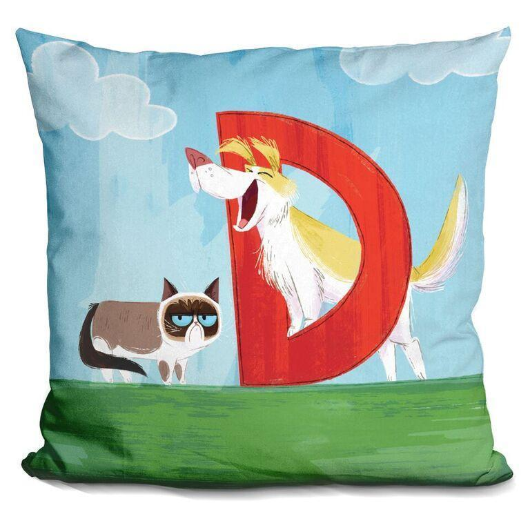 D Is For Dog Pillow
