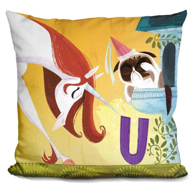 U is for Unicorn Pillow