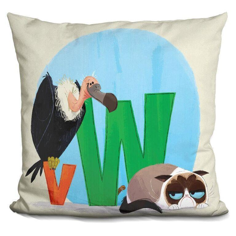 V is for Vulture, W is for Worm Pillow