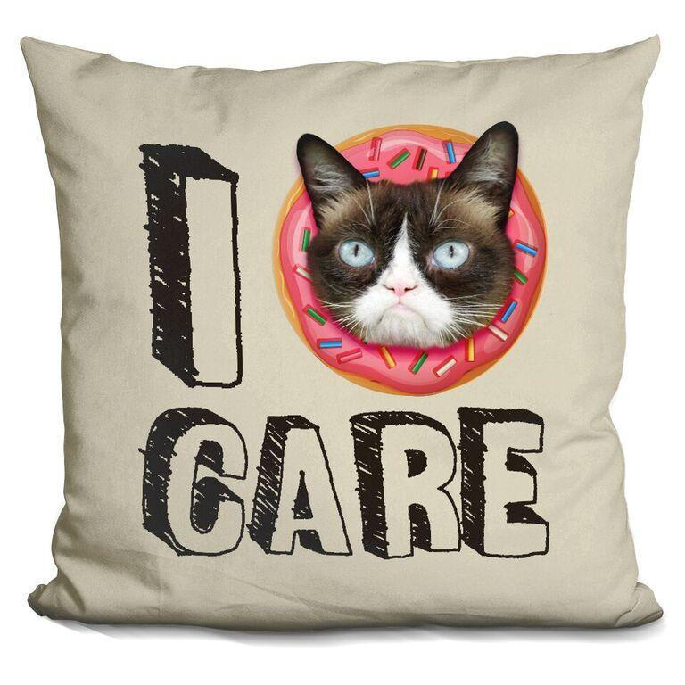 I Donut Care Pillow