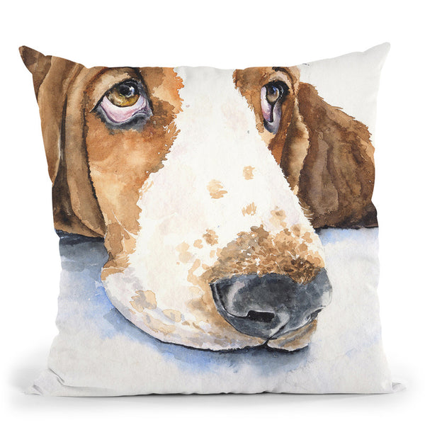 Basset Hound Ii Throw Pillow By George Dyachenko
