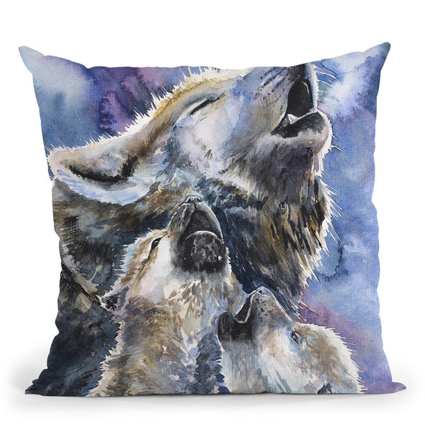 Wolves Family Throw Pillow By George Dyachenko