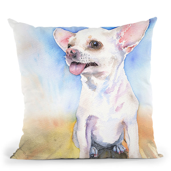 Chihuahua Throw Pillow By George Dyachenko