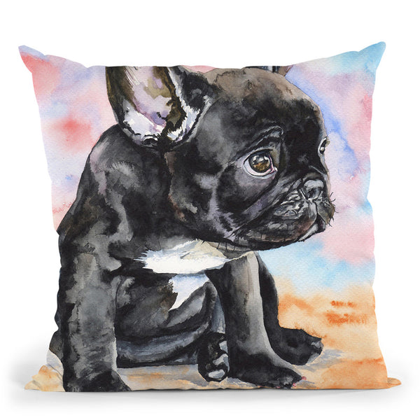 French Bulldog Throw Pillow By George Dyachenko
