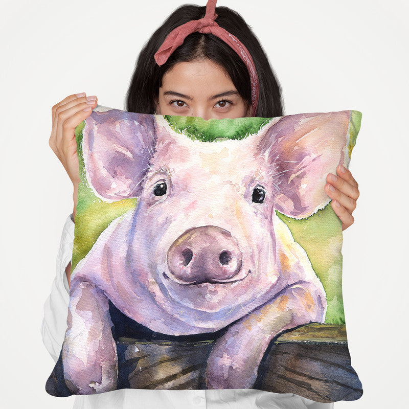 Piggy Throw Pillow By George Dyachenko