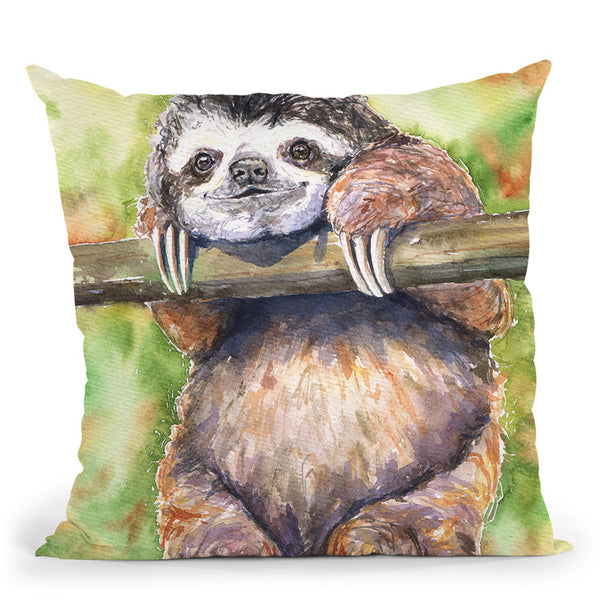 Sloth Throw Pillow By George Dyachenko