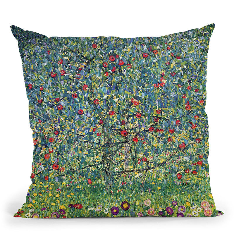 Apfelbaum Throw Pillow By Gustav Klimt