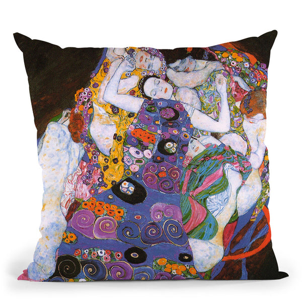 The Virgin 1913 Throw Pillow By Gustav Klimt