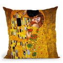 Classic The Kiss Throw Pillow By Gustav Klimt