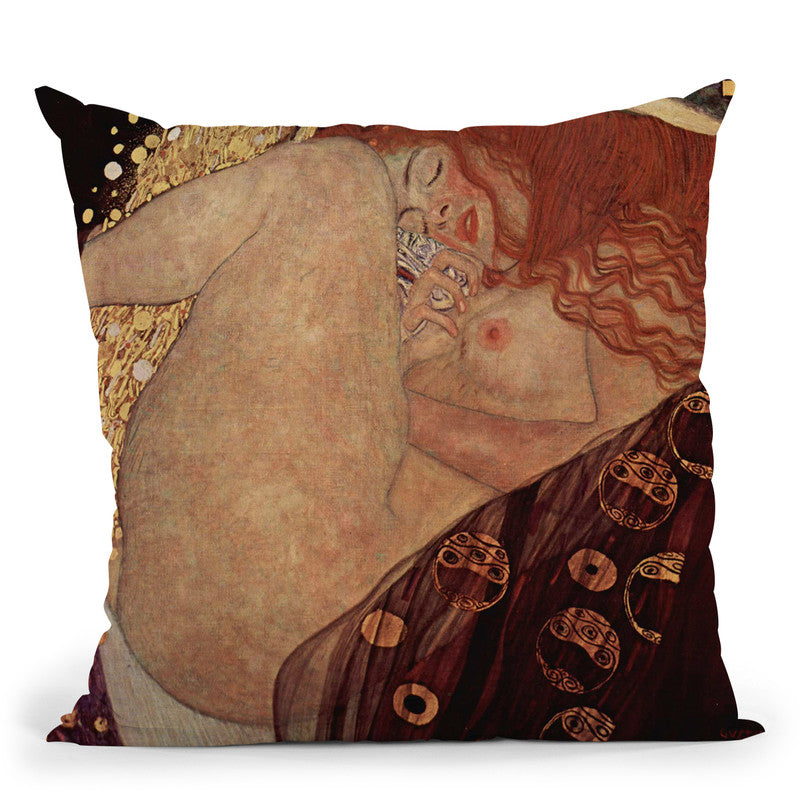 Danae Throw Pillow By Gustav Klimt